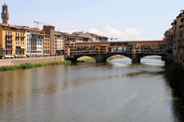 Architecture Bridge - Man Made Structure Building Exterior Built Structure City Connection Day Florence Italy Frainf No People Outdoors Public Transportation River Sky Transportation Travel Travel Destinations Water Waterfront Your Ticket To Europe
