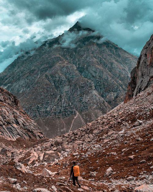 The Mighty Himalaya Himalayas Mountain Range Mountain Trekking Hiking Adventure Highaltitudephotography Highaltitude Scenics Aerial View Sky Landscape Cloud - Sky Hiker Snowcapped Mountain Peak Mountain Ridge Extreme Terrain Peak Rocky Mountains