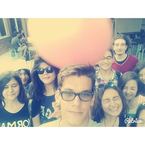 If someone throw a fittnes ball when we are taking a selfie ? Aiesec Aiesecizm Aiesecizmir Aiesecturkey mmw mmw14