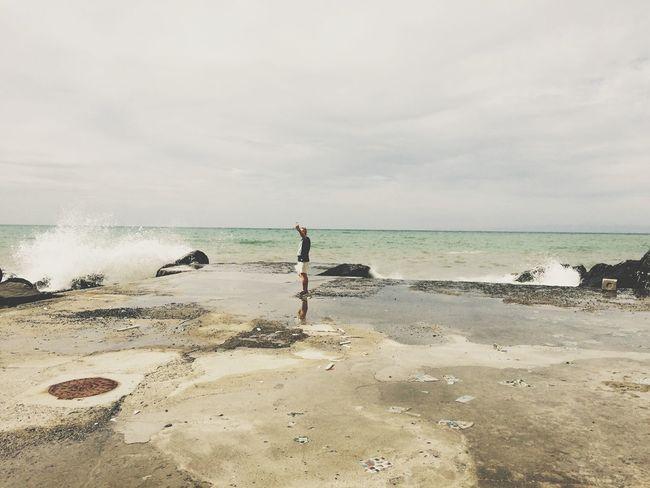 Seaside Waves Stormy Weather Italia
