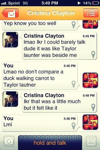 Chillin. Me And My Other Half's Convo Though... <3