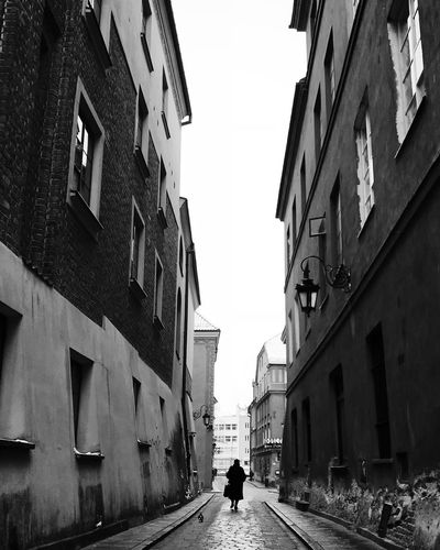Warsaw Architecture Building Exterior The Way Forward Walking Built Structure Street Day One Person