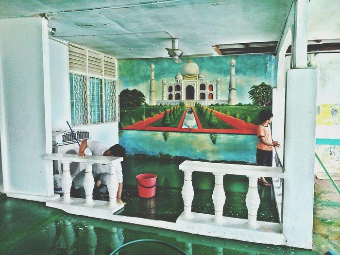 Tajmahal Home Decoration Painting Colour Of Life