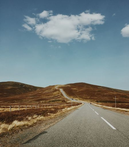 Road Iphonephotography VSCO Scottish Highlands Scotland Road Road Marking Landscape The Way Forward Transportation Empty Sky Scenics Cloud - Sky Outdoors Day Asphalt Tranquil Scene Street Beauty In Nature Tranquility Winding Road No People Mountain Nature