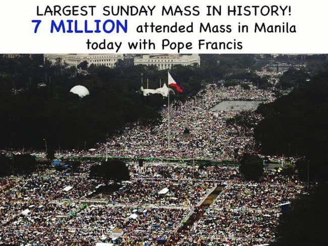The largest Sunday Mass in the World!