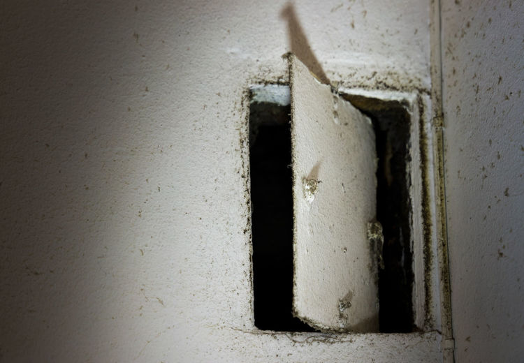 kitchen ventilation Wall - Building Feature No People Indoors  Architecture Close-up Built Structure White Color Old Concrete Copy Space Abandoned Dirty White Dirt Weathered Building Wall Old-fashioned