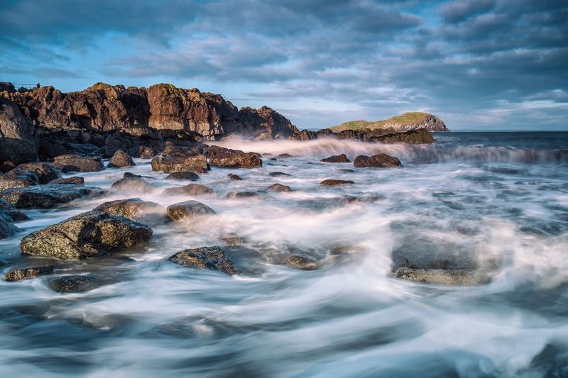 North Berwick shore Northberwick FirthOfForth Shore Sea Rocks Rocks And Water Waves Cloudysky Stormy Landscape Nature Beauty In Nature Rock Formation Scenics Water No People Outdoors