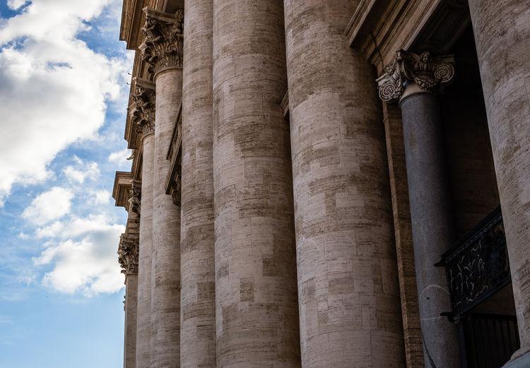 Italia Roma Rome St. Peter's Basilica Travel Architectural Column Architecture Building Exterior Built Structure Column History Italy Piazza San Pietro Travel Destinations