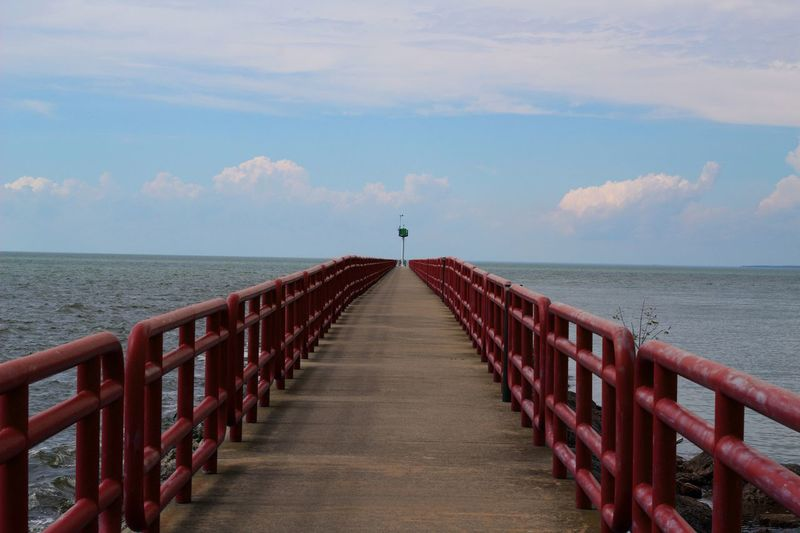 Pure Michigan Pure Michigan Ready For Sale Photography Forsale Water Sea Scenics - Nature Beauty In Nature Horizon Railing Day Pier Tranquility Nature The Way Forward No People Outdoors Cloud - Sky Horizon Over Water Diminishing Perspective