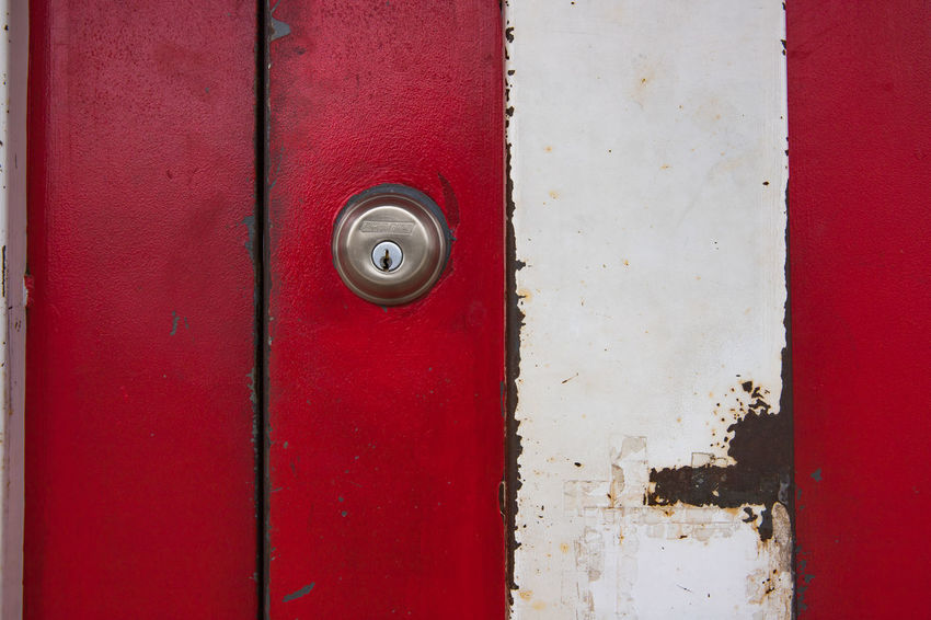Key hole Backgrounds Canon Close-up Day Door Full Frame Hinge Metal No People Outdoors Protection Red Safety Scratch Textured  Town
