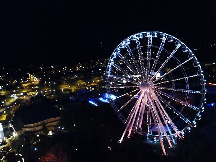 Lisebergshjulet High Angle View Night Ferris Wheel