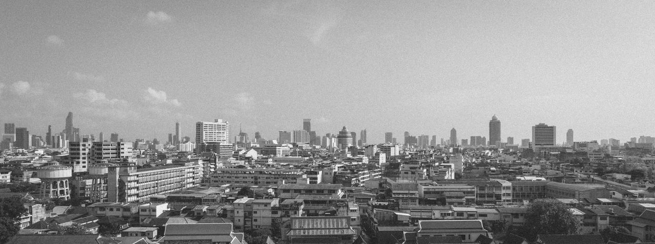 View over Bangkok, Thailand Architecture ASIA Bangkok Blackandwhite Blackandwhite Photography Blackandwhitecity Building Building Exterior Built Structure Bw City Cityscape Day Landscape Modern No People Outdoors Sky Sky And Clouds Skyscraper Skyscrapers Tall Thai Thailand Thailand_allshots