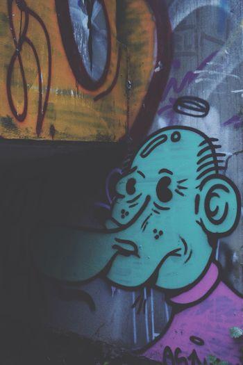 how i imagine other people see me Street Art Self Portrait