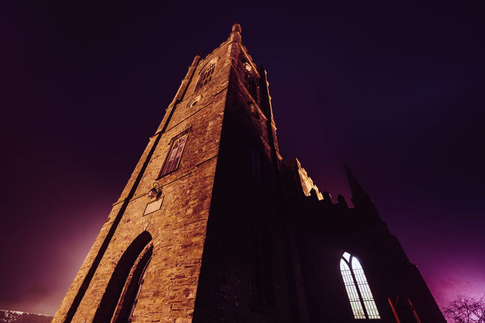 St Patrick's Cathedral, Down Patrick, Northern Ireland. Architecture Building Exterior Built Structure Cathedral Churc Church Church County D Fog History Irela Low Angle View Northern Outdoors Place Of Worship Religion Spirituality St Patrick St Patricks Cathedra Tower Wide Angle