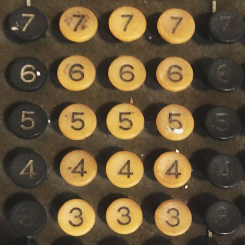 Adding Machine Numbers Pattern Full Frame Number No People Indoors  Backgrounds Communication Shape Retro Styled Antique Close-up Still Life In A Row Old Technology Geometric Shape