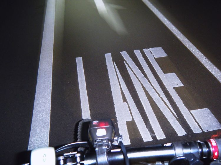 Adapted To The City Bike Bicycle MTB Mountainbike Cycling Cyclist Perspective Capturing Movement Motion Outdoors City Night Nightphotography Streetphotography Urbanphotography Bike Lane