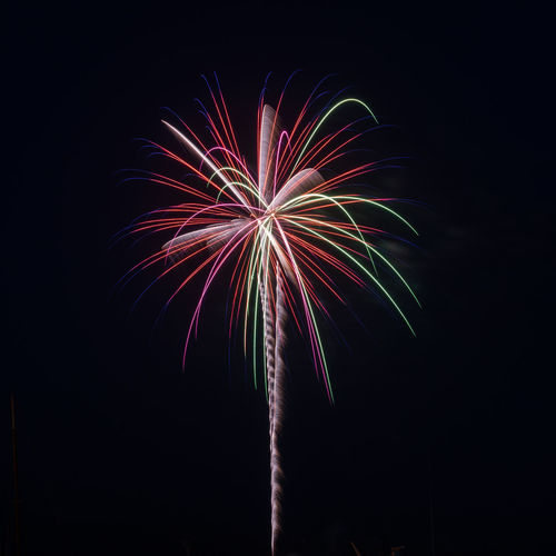 Fireworks Arts Culture And Entertainment Black Background Blurred Motion Celebration Event Exploding Firework Firework - Man Made Object Firework Display Glowing Illuminated Light Long Exposure Low Angle View Motion Multi Colored Nature Night No People Outdoors Sky Sparks