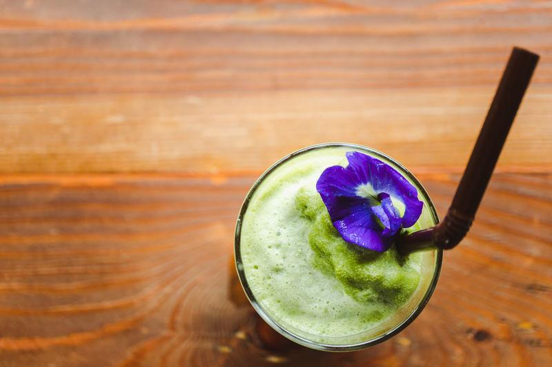 Matcha Tea Ice Table Top View Organic Green Tea ❤️ Frappe Fruit Juice Juicer Blender Squeezing Drinking Straw Milkshake Ice Tea Ice Cube Mint Leaf - Culinary Mint Tea Halved