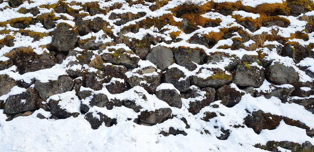 Full frame shot of snow covered field