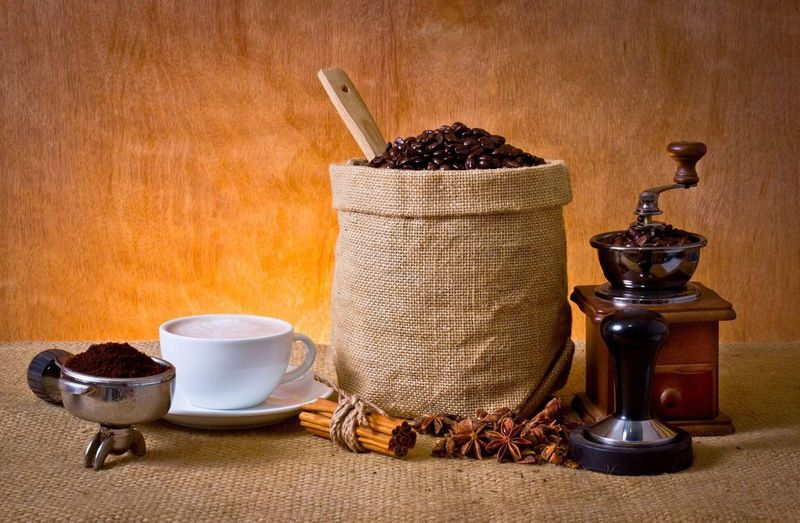 Coffee set No People Indoors  Close-up Day Coffee Bean Freshness Food still life Coffee - Drink portafilter Agriculture
