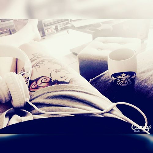 Music and coffee ❤ Lovelife September Holiday Starbuckscoffee Music Musicforlife  Musicforthesoul Tatooedgirl Relaxing Photooftheday