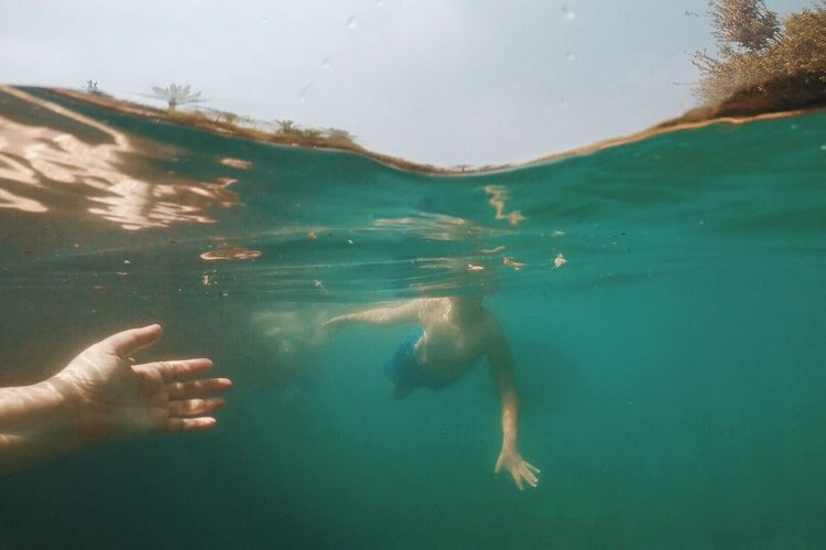 My Year My View Real People Underwater Water Swimming Leisure Activity Finding New Frontiers Vacations Low Section Nature UnderSea Day Human Body Part Outdoors Sea Deep Eye4photography  מייגיא מייים Diving Swimming Nature Beauty In Nature The Great Outdoors - 2017 EyeEm Awards Sommergefühle Summer Exploratorium