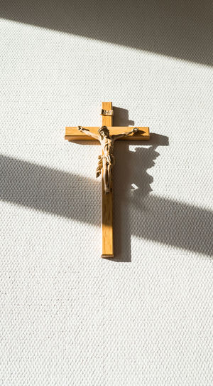 Cross Shadow Crucifix No People Religion Belief Spirituality Indoors  Close-up Sunlight Single Object Still Life Day White Color Gold Colored Pattern Safety Metal Religious Equipment My Best Photo