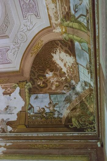 CARDITELLO Borboni Royal Hause Close-up Day Fresco History Human Representation Indoors  Low Angle View No People Spirituality