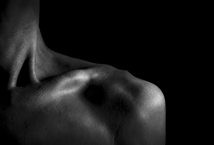 the body portrait Abdomen Adult Back Black Background Close-up Day Human Back Human Body Human Body Part Human Hand Human Skin Indoors  Lifestyles Men Midsection Muscular Build One Person People Real People Shirtless Shoulder Strength Studio Shot The Portraitist - 2017 EyeEm Awards Young Adult