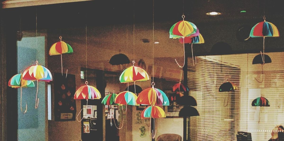 Umbrella☂☂ Indoors  Craft Hand Craft Decoration Handmade Multi Colored Mobilephotography Mobile Photography