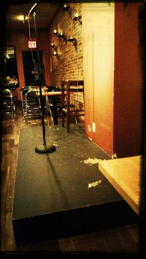 Center Stage Comedyclub Lounge Mic Stand Laughter