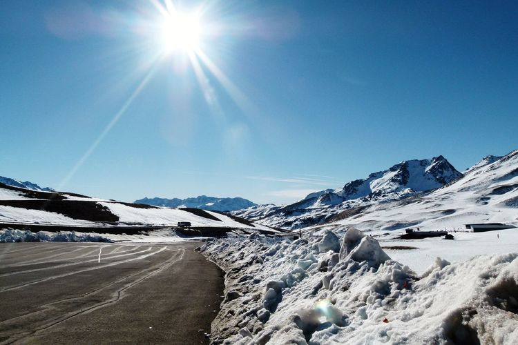 Snow Mountain White Mountain Snow Cold Temperature Winter Clear Sky Sunlight Sun Snowcapped Mountain Rocky Mountains
