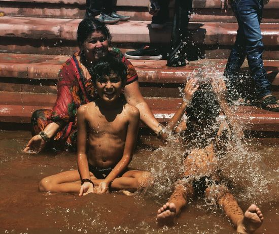 The Journey Is The Destination Summers are when people in India come to have a river water bath! Live For The Story
