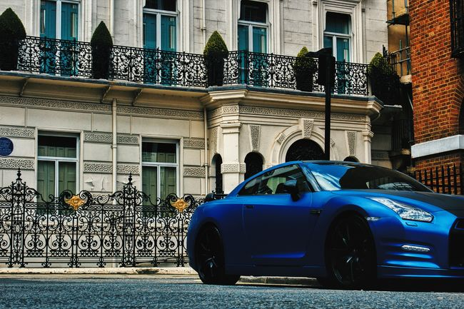 Nissan GTR First Eyeem Photo Nissan GTR London Mayfair, London Car Transportation Street No People City Vehicle Low Angle View Architecture Perspective Photography Building Exterior City Life