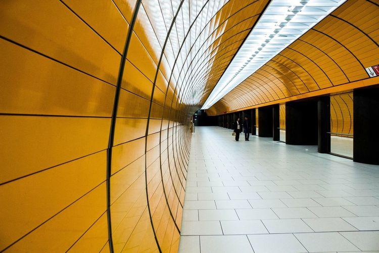 München Underground Streetphotography Travel Architecture EyeEm Gallery Modern Transportation Orange Canonphotography EyeEm