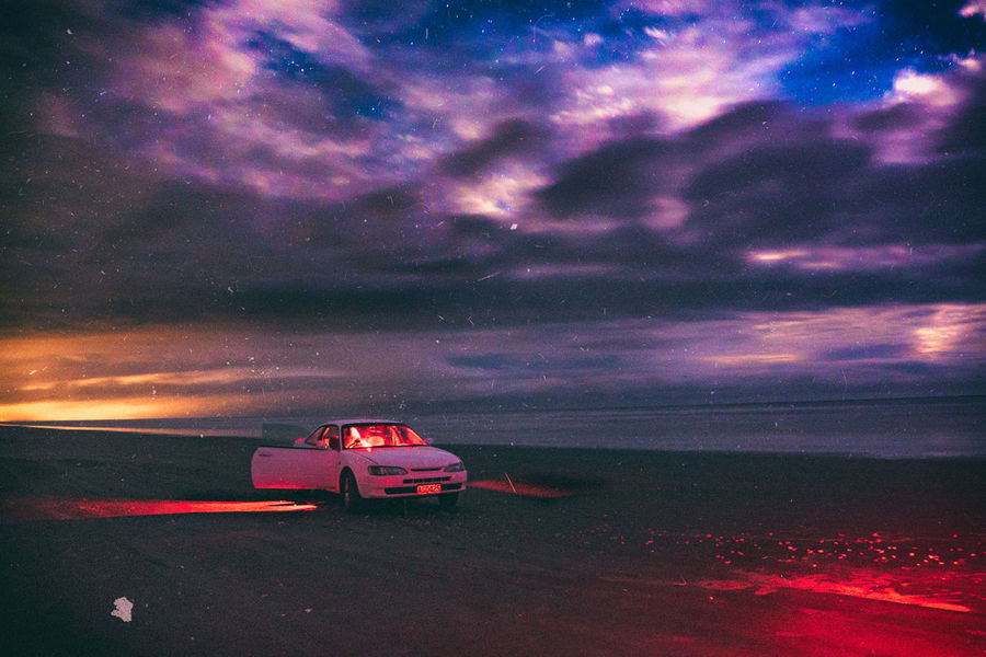 GH4 Light Painting New Zealand Beauty New Zealand Photography Night Photography Panasonic  Panasonic Lumix Beach Car Cloud - Sky Deteriorated Enhanced Illuminated Levin Long Exposure Lumix Manawatu Motor Vehicle New Zealand Night No People Outdoors Toyota Levin Waitarere Waitarere Beach