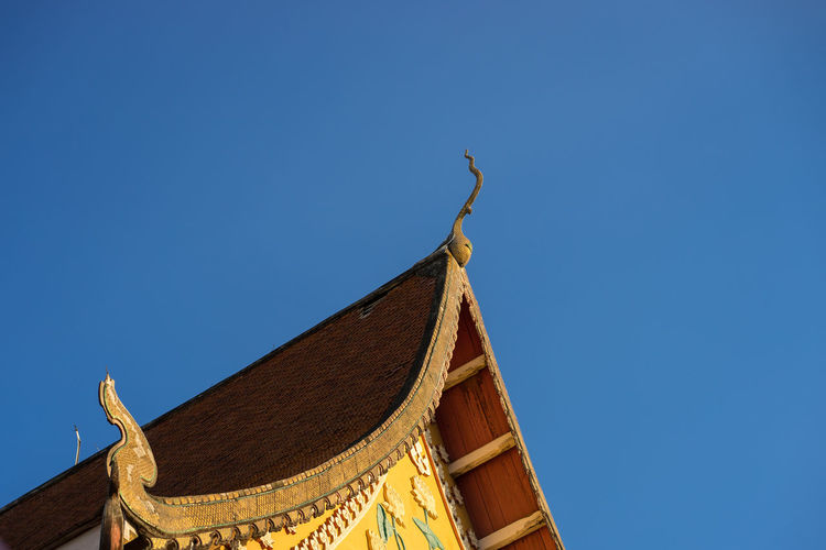 temple Architecture Blue Building Exterior Built Structure Clear Sky Low Angle View Outdoors Sky Temple Thailand Tradition