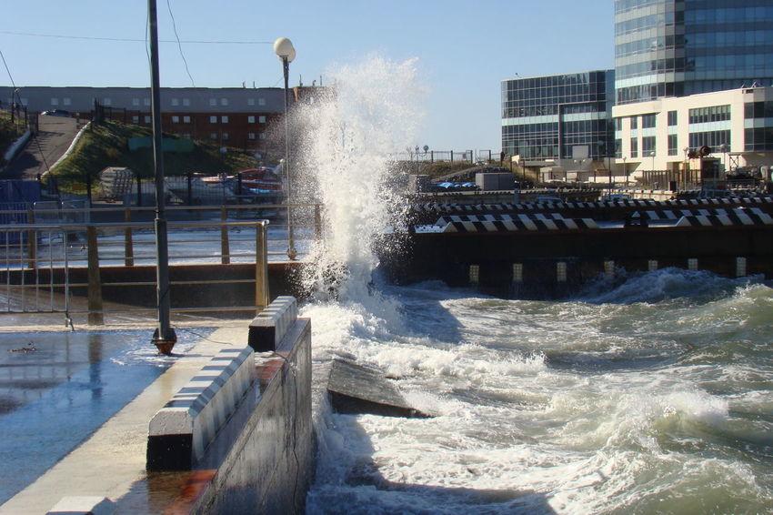 Day Motion Nature No People Outdoors Sea Sky Splashing Spraying Water брызги ВОЛНА
