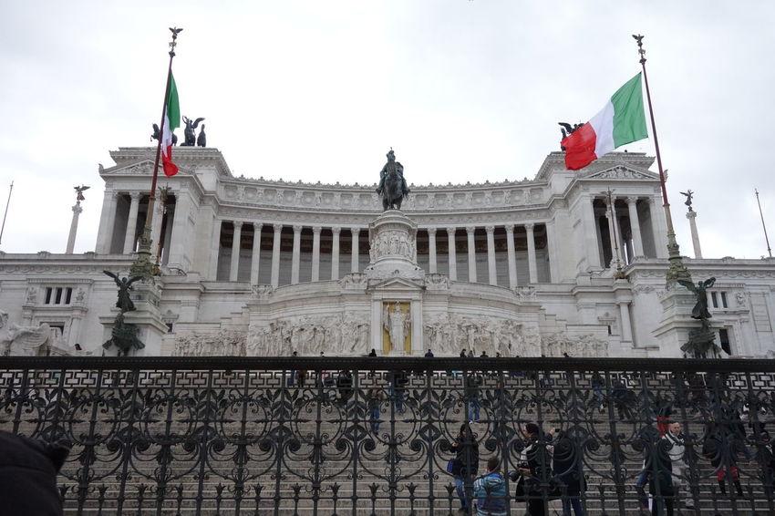 Building Exterior Famous Place History International Landmark Piazzavenezia Roma