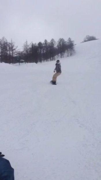 今年初滑り?I went for the first time snowboarding this year 雪 初滑り 山 スノーボード