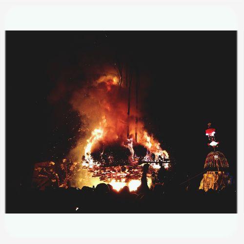 Japan Festival 道祖神祭り Fire 野沢温泉