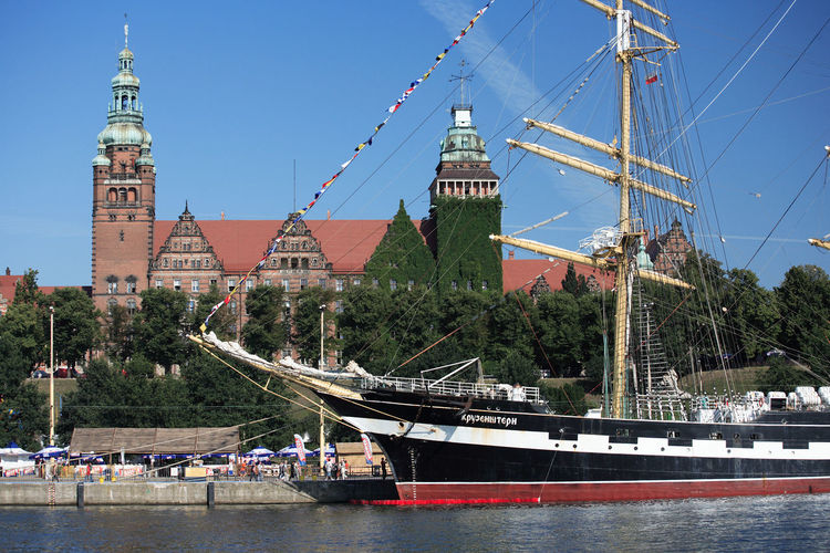 Harbour Odra Poland Szczecin Tall Ship Transportation Boat Day Moored Nautical Vessel Sailboat Sailing Ship Stettin Transportation Travel Destinations Water Yacht