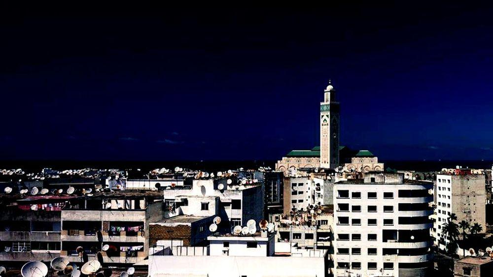 From My Doorstep Streetphotography Cityscapes Buildings Casablanca Mosque Hassan ıı Morocco Sky Nikon D7000 Islam