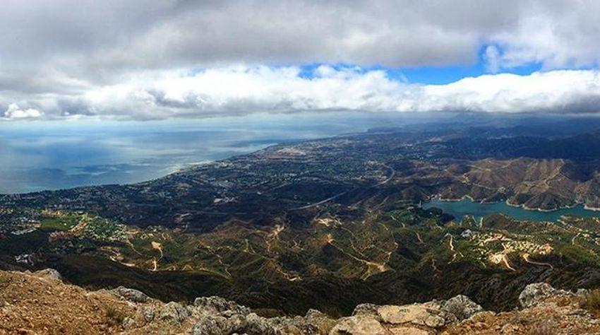On top of Laconcha , mountain overlooking Marbella . Views Travel Hike Climb Mountain Puertobanus Landscape CostadelSol Sky Sea SPAIN España