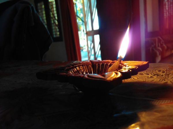 Table Indoors  Diwalitime Diwali Lights Lights Deepak Home Is Where The Art Is Mobile Photography Redmi2Prime Table Indoors  Person Celebration Event Freshness