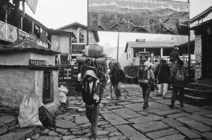 Blackandwhite Building Exterior Nepal Nepal #travel Outdoors Real People Slidefilm Trekking