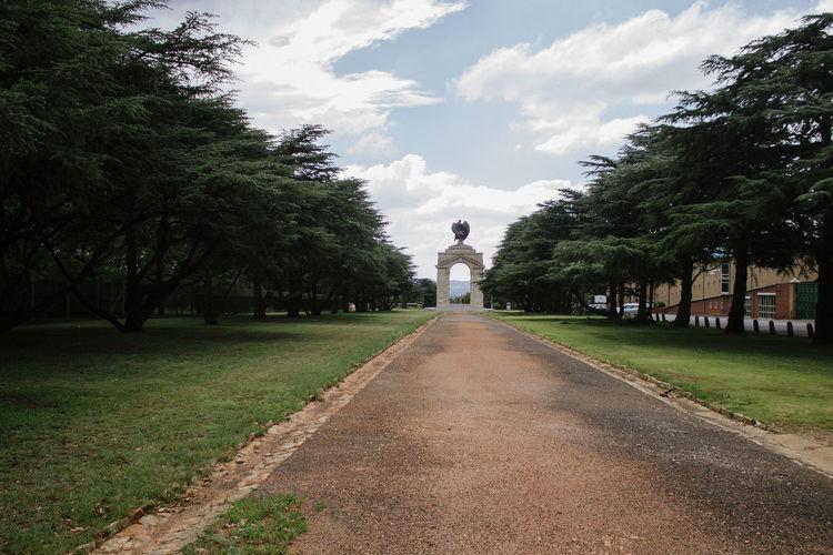Footpath along trees