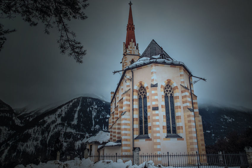 Wallfahrtskirche Locherboden Church Architecture Ggaßler Love Time Light And Shadow Hello World Sony Photography Time To Reflect Night Spirituality Landscape Fog Mountain Outdoors Nature History Sky