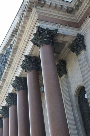 Low Angle View Architectural Column Built Structure Architecture History Day классика СПб колоннада Питер Building Exterior