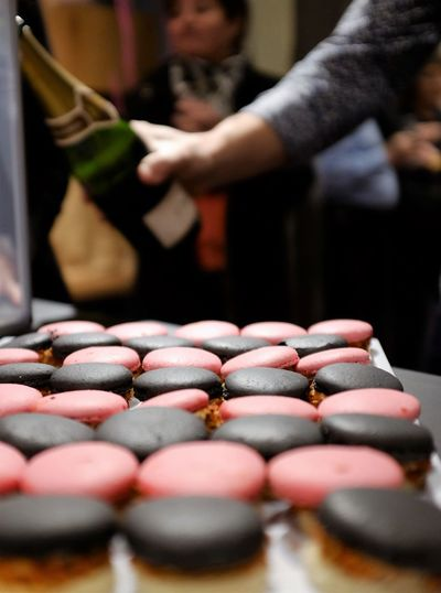 Close-Up Of Macaroons On Table